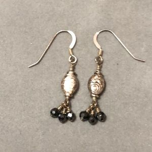 Jewelry - Sterling Silver & hematite earrings. 1.5 inches